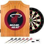 NBA Miami Heat Wood Finish Dart Cabinet Set