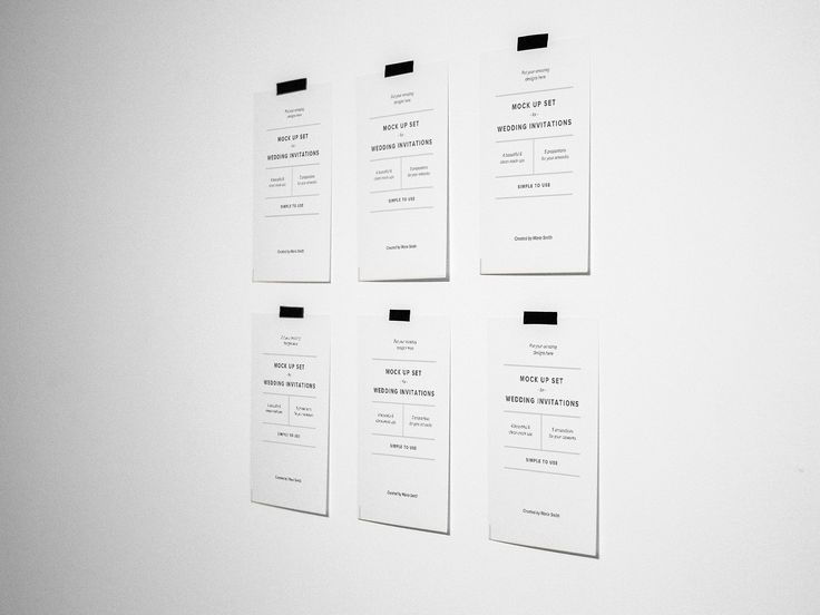 Invitations & Postcard Mockup Set by Marie.Smth on @creativemarket