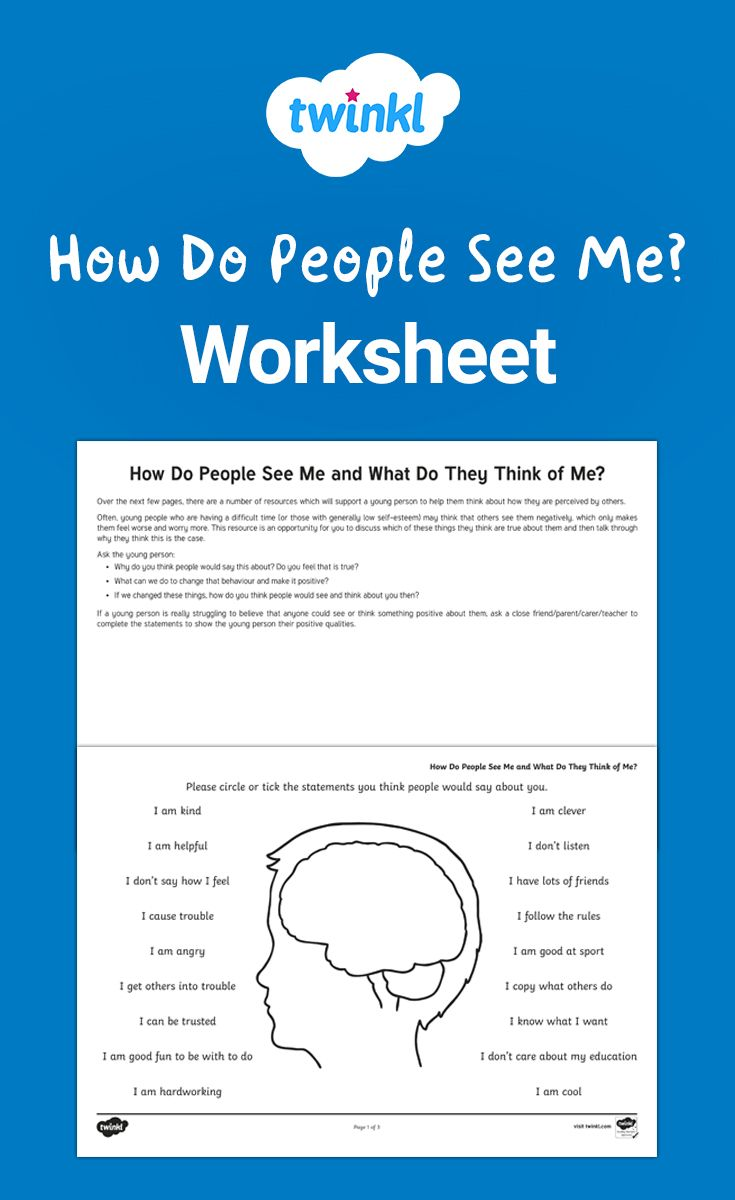 How Do People See Me Worksheet Mindfulness For Kids Teaching Learning And Development [ 1200 x 735 Pixel ]