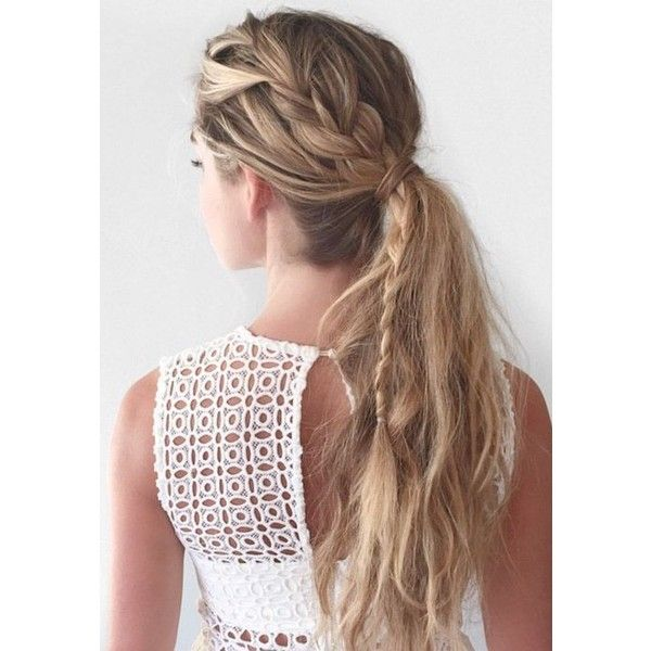 Braided pony | Hair & Beauty | Pinterest | Braided Pony, Ponies and... ❤ liked on Polyvore featuring accessories, hair accessories and hair