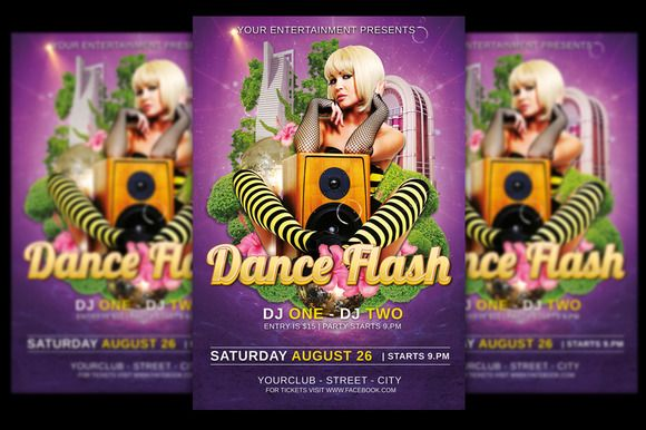 Dance Flash Flyer + FB Banner by @Graphicsauthor