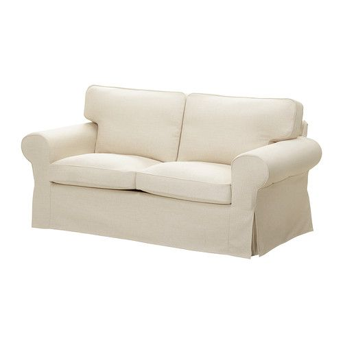 EKTORP Two-seat sofa IKEA The cover is easy to keep clean as it is removable and can be dry cleaned.