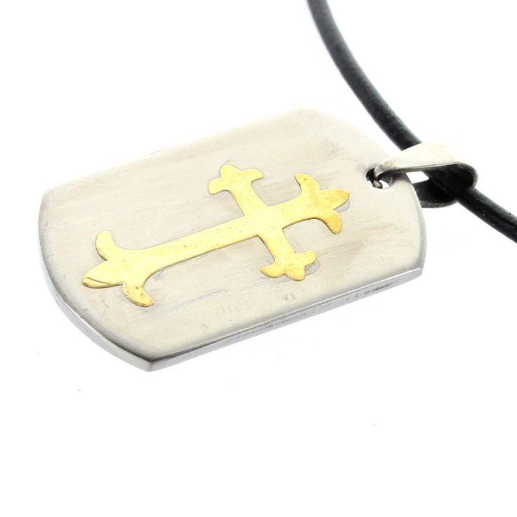 Edelstahl Dog Tag Anhänger - Kreuz - mit Lasergravur Ihres persönlichen Wunschtextes z.B. Wirke auf andere durch das, was du bist.  Inklusive Kette.  #Anhänger #Lieblingsmensch #Geschenk #Liebe #Partner #Schmuck #Gravur #Kreuz