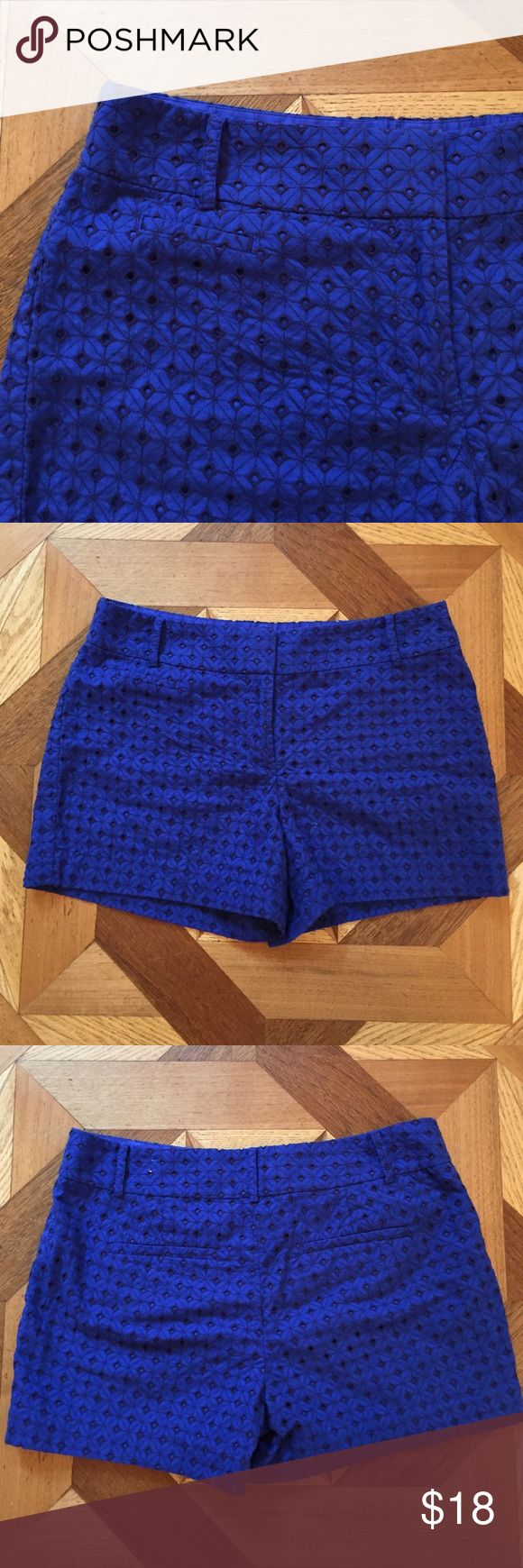 LOFT blue eyelet shorts EUC. Wore a few times. 100% cotton. LOFT Shorts