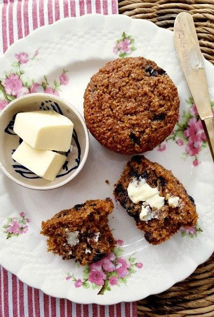 Blueberry bran muffins are light-textured and moist. Made with natural wheat bran, the key to their lofty texture. Blueberries and molasses keep them moist.