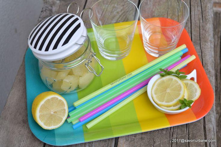 cum se face limonada de casa cu menta - cubulete congelate