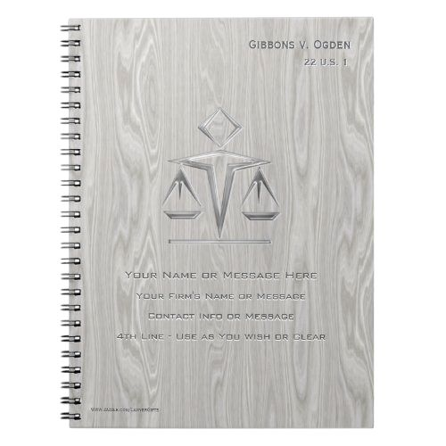 Scales Of Justice On Gray Wood Personalized Notebook Zazzle Com In 2021 Wood Personalized Personalized Notebook Grey Wood