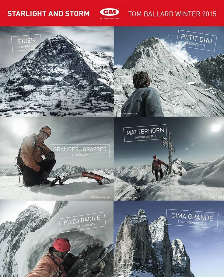 Missione #starlightandstorm compiuta! Le sei grandi pareti nord delle #Alpi in solitaria, in inverno e nella stessa stagione! Sei mitico Tom Ballard! #calzeGM con Virna Pierobon Projects