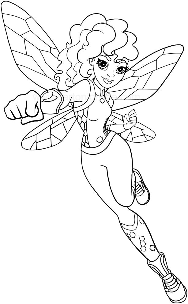 dc superhero coloring pages Bumblebee (DC Superhero Girls) coloring page to print | Kylie's  dc superhero coloring pages