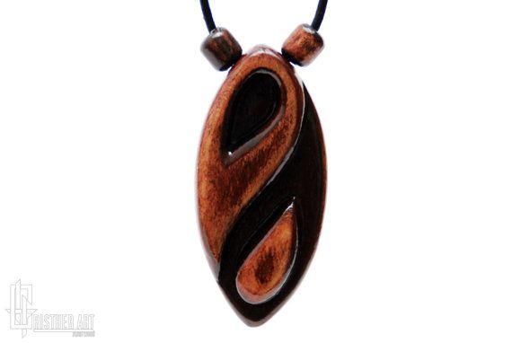 Yin Yang Necklace  Yin Yang Taoist Symbol Jewelry   by CristherArt