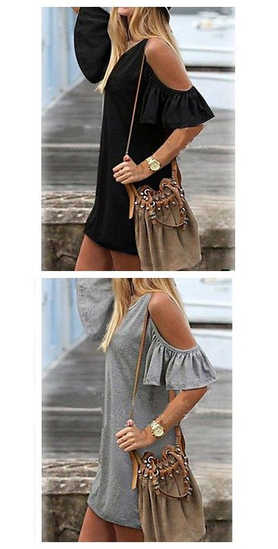 Plus size casual dress to easily wear the street style out!