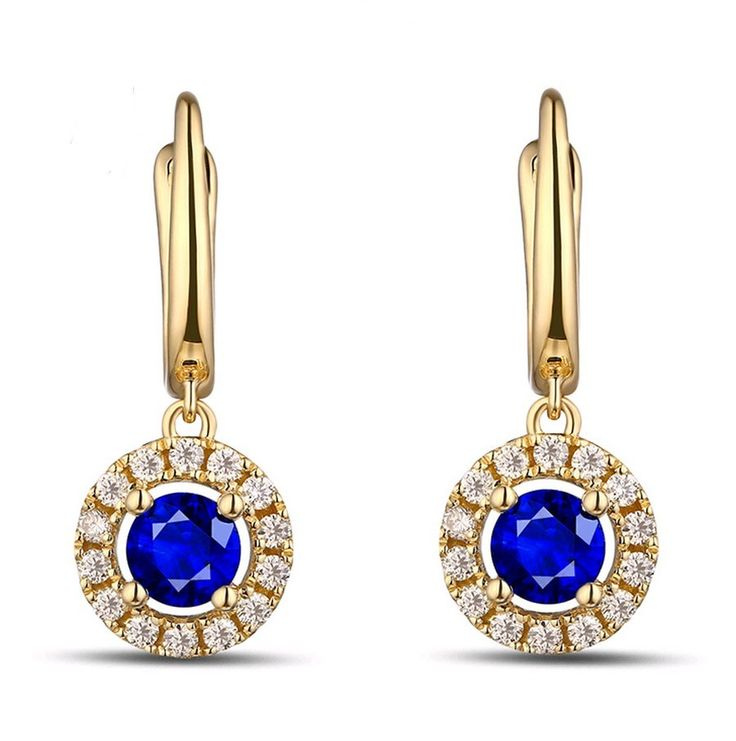 Brenda Boucles d'oreilles Saphir Diamant