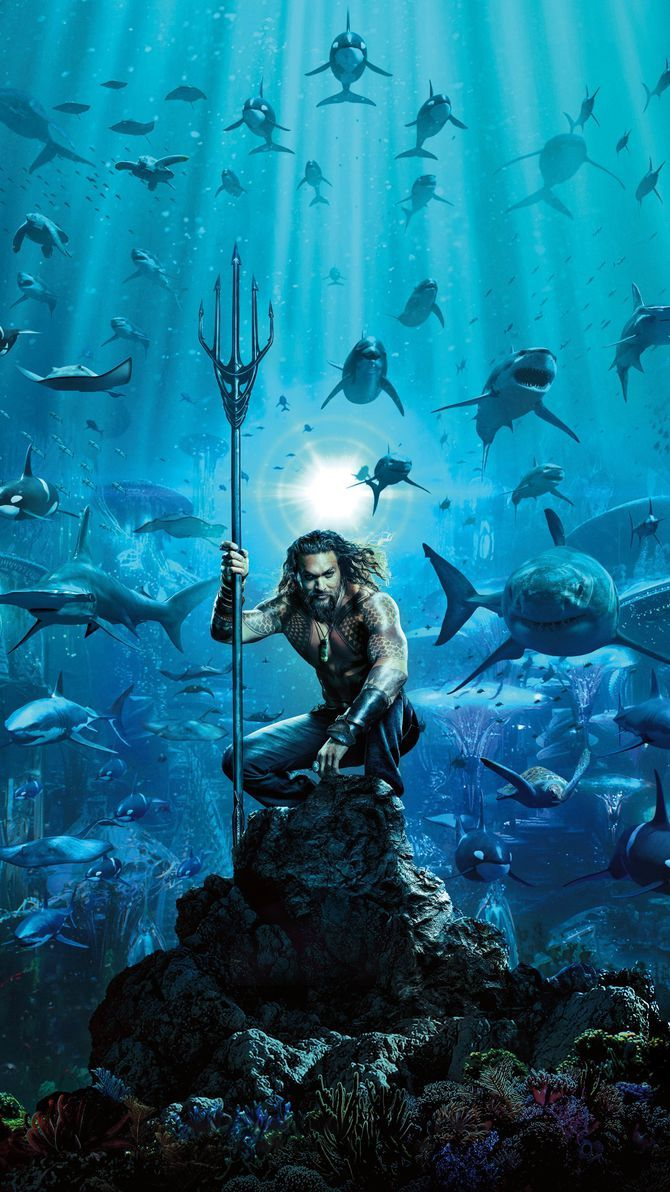 Aquaman 2018 Phone Wallpaper Movie Mania Pinterest Super