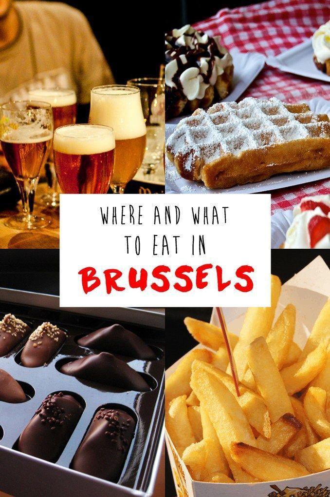 Foodie travel in Brussels, Belgium: The best waffles, fries, chocolate, beer, and more.