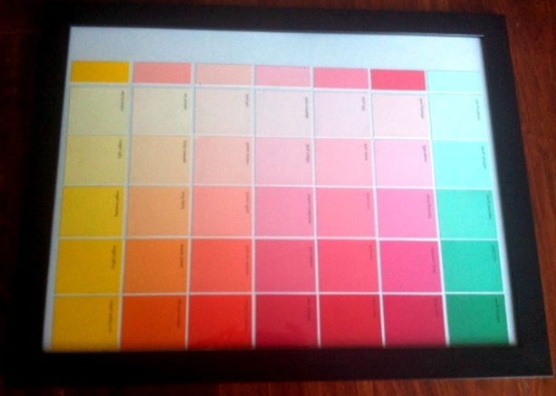 Crafty Chic: Paint Sample Calendar | Chicisms