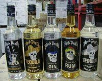 Black Death spirits (vodka, tequila, gin, run, beer...)  (I can't tell if this is still being produced or not... May be from Iceland or Belgium?)