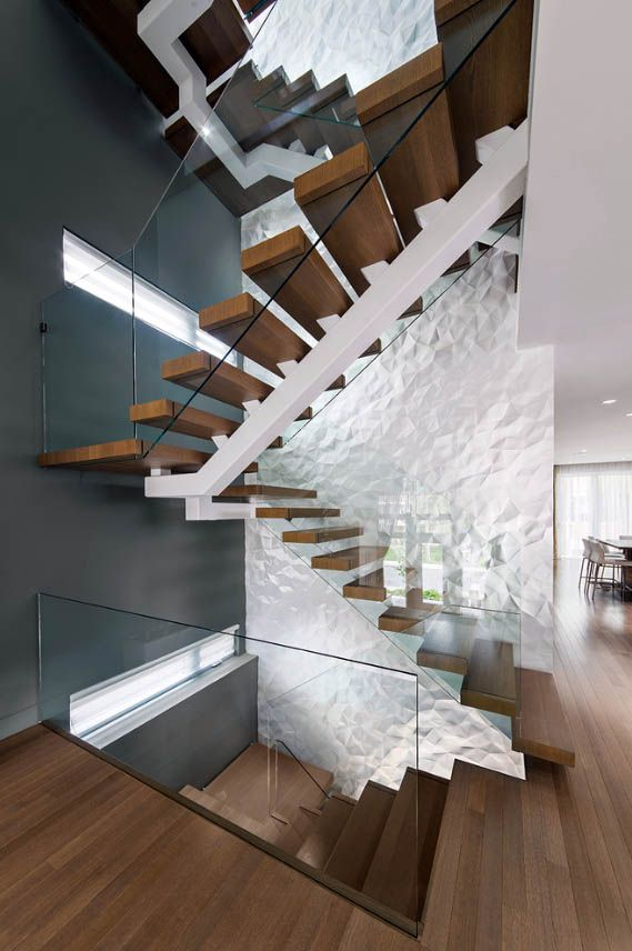 20 Sleek Glass Railings for the Stairs | Glass railing ideas