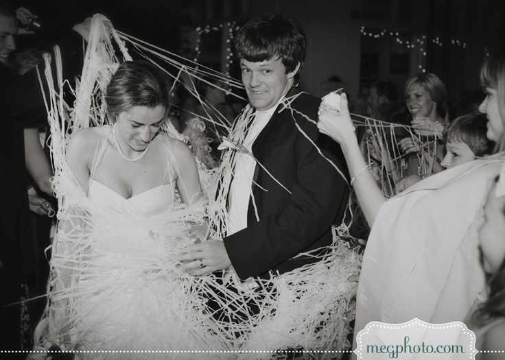 #wedding #exit #silly string #send off