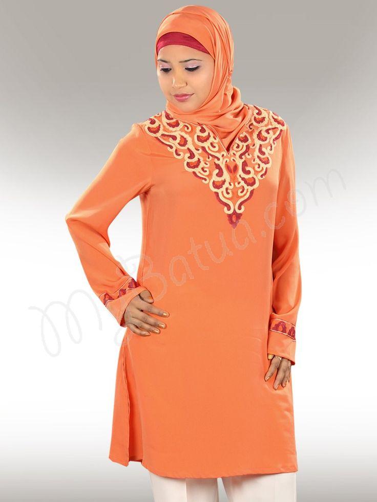 Ayra Tunic, Muslim Clothes for Women  - www.mybatua.com  http://www.mybatua.com/womens/islamic-kurtis-tunics/ayra-muslim-tunic-top