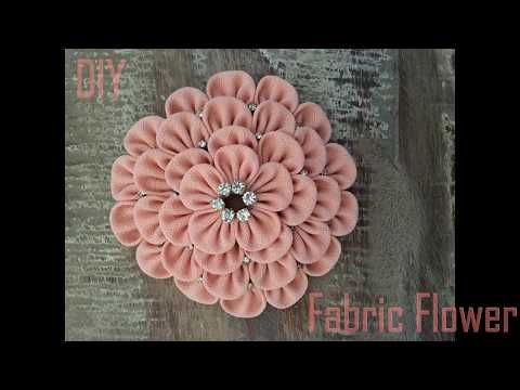 DIY how to make a Fabric Flower (step by step) - YouTube