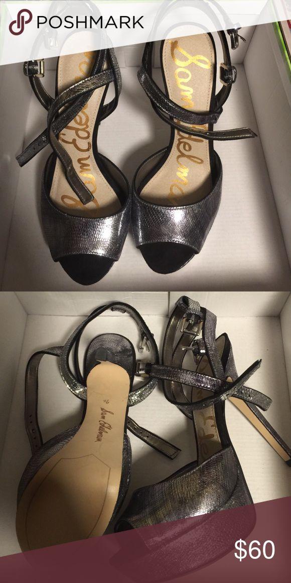 Sam Edelman Nadine pewter heels New Nadine Sam Edelman heels never worn. Will be shipped with original box . Sam Edelman Shoes Heels