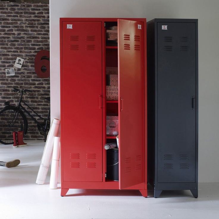 Armoire vestiaire, métal, 2 portes, HIBA Autre | La Redoute