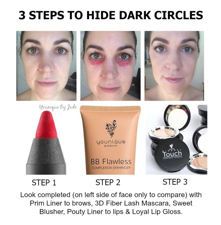 3 STEPS TO HIDE DARK CIRCLES. This really works, I'm ... - photo#39