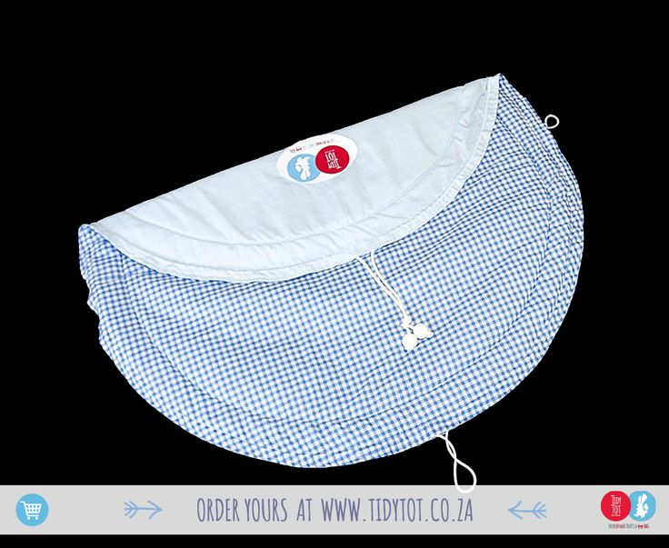 "Tidy Tot - This super cute Tidy Tot is a simple gingham design making it uber classic and perfect for your ""teeny tot"". Beautifully PADDED for your little one's comfort it has 2 blue beads.  www.tinytot.co.za 