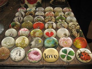 Pictures of paperweights | piece of Derian Decoupage | Seeing Design