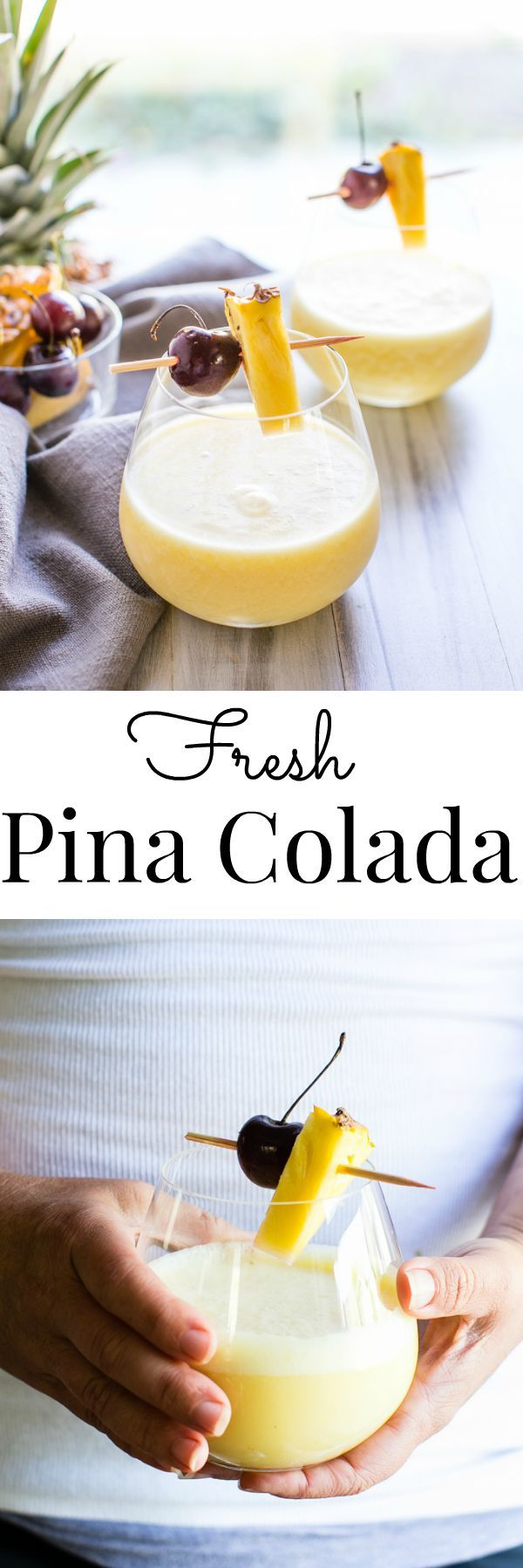 Fresh because it is made with whole foods with just a pinch of sugar. Quick and easy Fresh Pina Colada | Vanilla And Bean