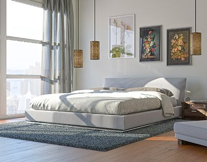 """Check out new work on my @Behance portfolio: """"Interior visualization - City Bedroom"""" http://be.net/gallery/50178433/Interior-visualization-City-Bedroom"""