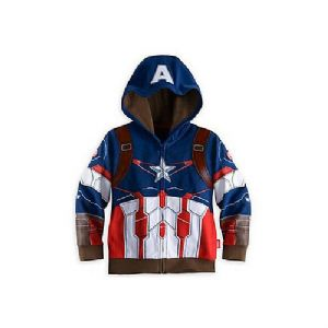 Captain America Zip Up Hooded Outerwear Jacket