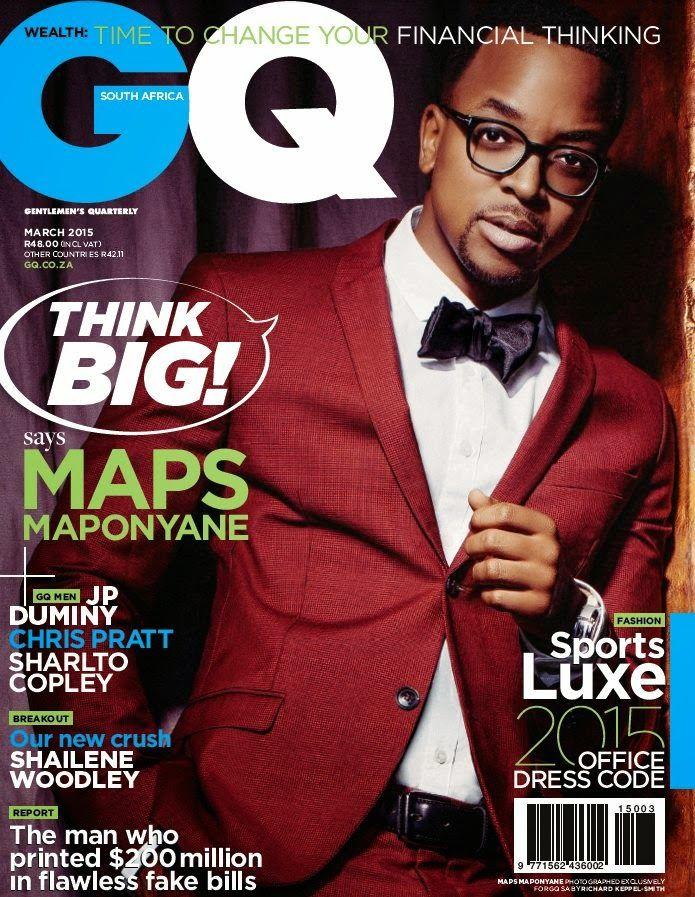 Maps Maponyane en portada de GQ Sudáfrica