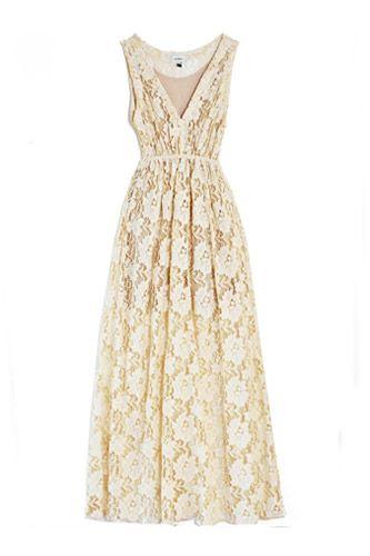 16 Alternative Wedding Dresses You'll Love #refinery29  http://www.refinery29.com/19009#slide5  Imitation Lace Dress, $292, available at Bona Drag.