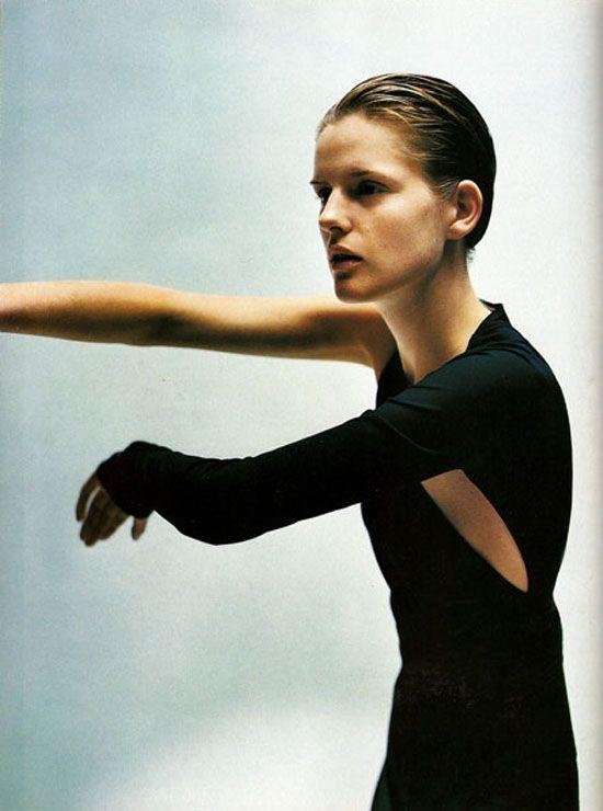 "Harpers Bazaar March 1997 ""Zen and the Art of Modern Dressing"" Stella Tennant by Nathaniel Goldberg and Tonne Goodman"