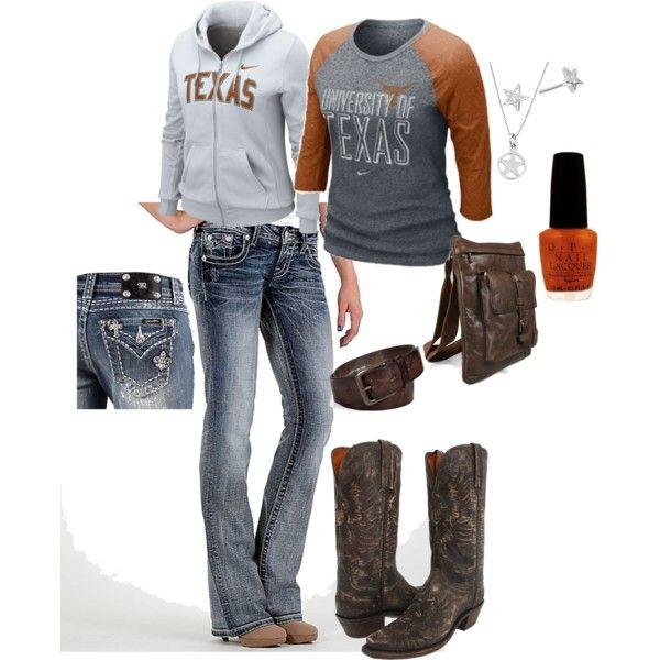 Outfit -- UT Longhorns HOOK 'EM!!