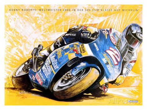 Michelin, Kenny Roberts Cycle Giclee Print - at AllPosters.com.au