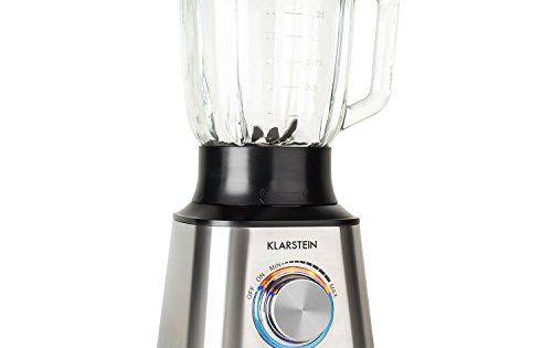 Klarstein TK30 Herakles mixeur blender (pour smoothies, milk shakes, jus de fruits et soupes, avec récipient en verre 1,5 L, 8 lames acier,…