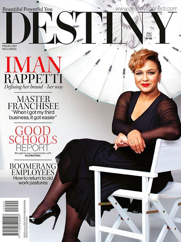 Iman Rappetti, Destiny July 2015 Cover