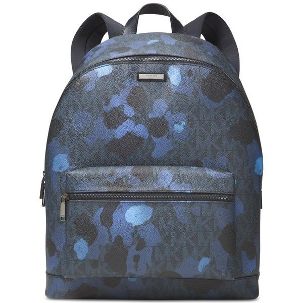 Michael Kors Men's JetSet Camo Backpack ($313) ❤ liked on Polyvore featuring men's fashion, men's bags, men's backpacks, midnight, mens backpack and mens camo backpack