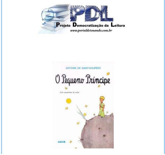 [eBook] O Pequeno Príncipe, Antoine de Saint-Exupery. Link para download: https://www.dropbox.com/s/0ay7mp4ptc2a12t/LIVRO_-_O_PEQUENO_PRINCIPE.pdf #opequenoprincipe #ebook #livro