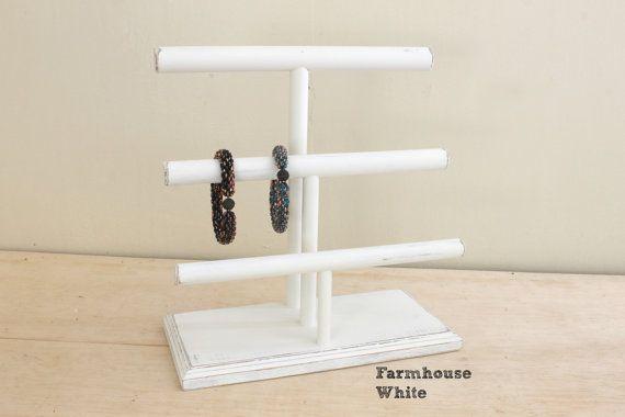 Дерево ювелирные изделия Дисплей Браслет Дисплей 3-х уровневая, ожерелье Дисплей, Браслет стенд, стенд ожерелье, Браслет держатель, выбрать цвет