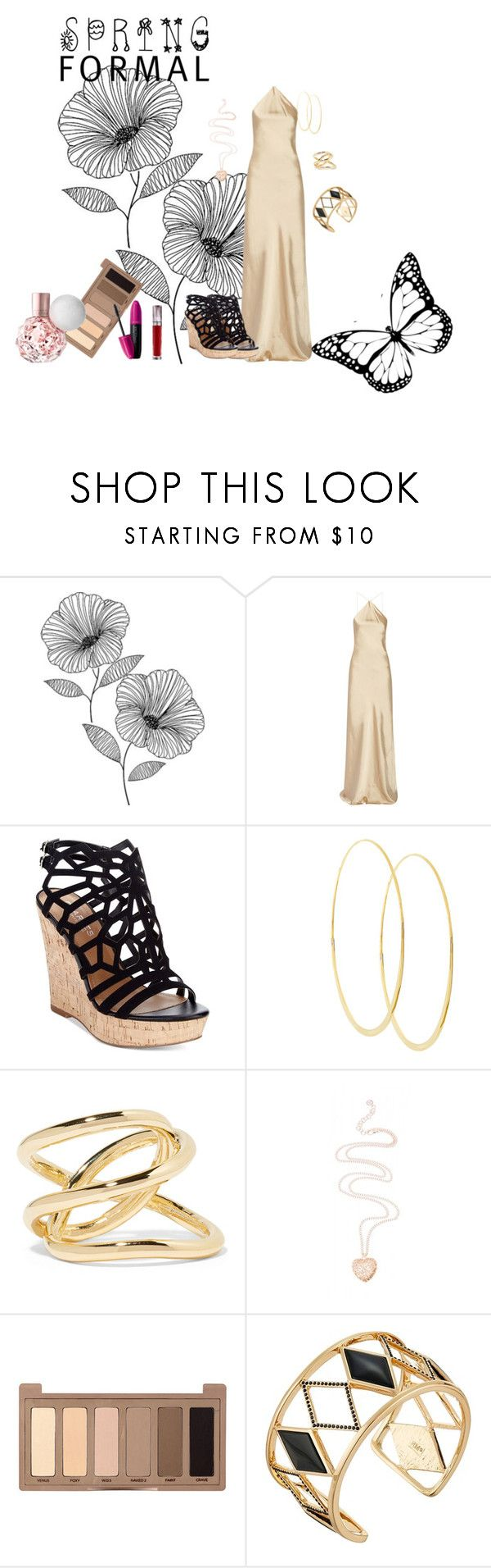 spring formal by kelly17-kalymnos on Polyvore featuring Calvin Klein Collection, Charles by Charles David, Rebecca Minkoff, Jennifer Fisher, Lana, Urban Decay, Revlon and Wall Pops!