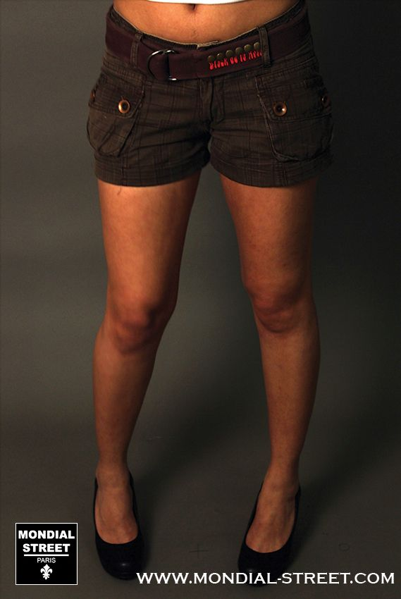 Short cargo femme fashion  Black de la Rosa sur votre shop www.Mondial-Street.com