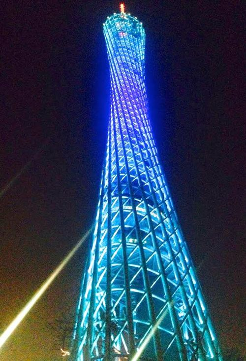"""Ultra-modern Canton Tower, designed by a Dutch duo from """"72 Hours Visa-Free in Guangzhou, China: A Packed Trip in a Fascinating City."""""""