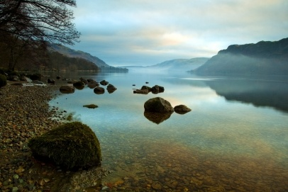 Ullswater at Sunrise, Lake District, Cumbria UK #
