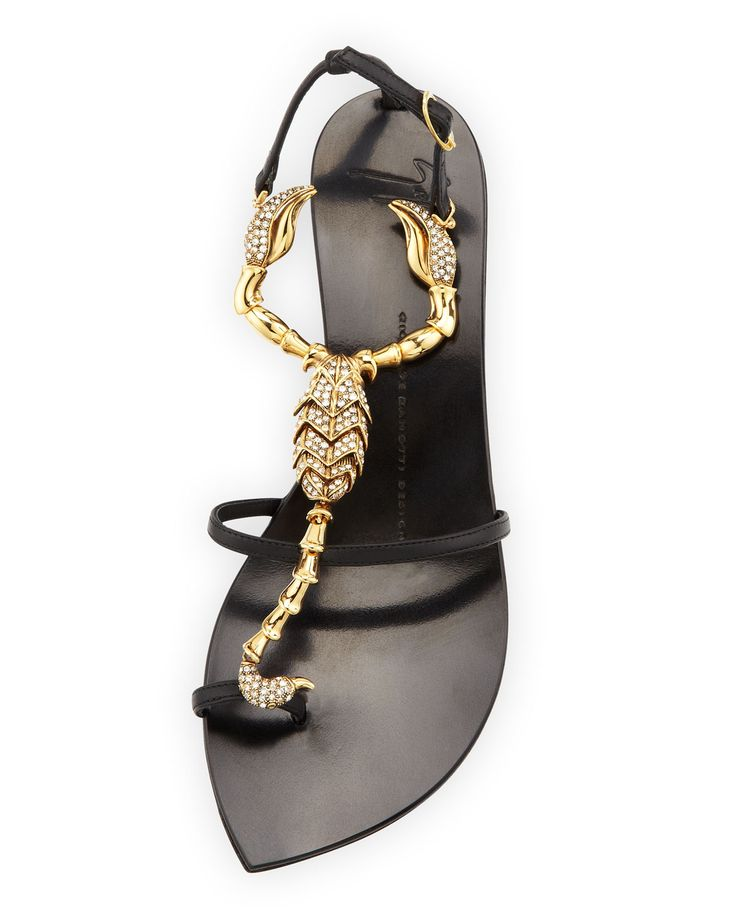 Giuseppe Zanotti Black Double Chain Flat Sandals bPO0gG