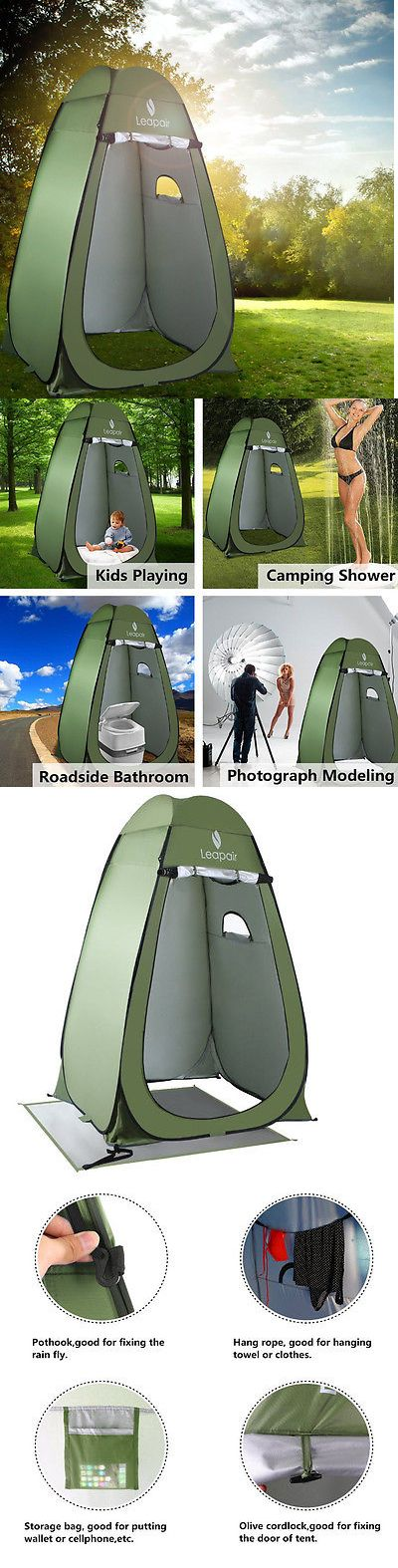 Portable Showers and Accessories 181396: Shower Tent Camping Portable Toilet Cover Lightweight Pop Up Privacy Hiking BUY IT NOW ONLY: $69.95
