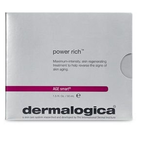 *AGE smart™ power rich™/1.5 oz (5 tubes) Mature or prematurely-aging skin. A potent moisturizing treatment that stimulates collagen production, helping to increase firmness and elasticity. A blend of multivitamins and active botanicals that includes Red Seaweed, Rice Extract, Soy Protein Phytoestrogens, Kukui Nut and Licorice hydrates, exfoliates and helps reverse the signs of premature aging. Contains no artificial fragrance or color.