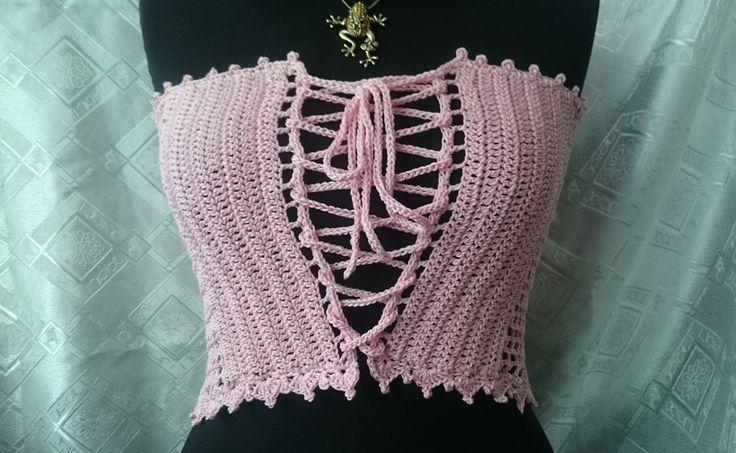 """топ - корсет """"pink"""". Ручная работа. Handmade. Бледно-розовый, кроптоп, кроп-топ, для девушки, вязаный, handmade ручная работа крючком, хендмейд, подарки, вяжу, рукоделие, подарок, покупки одежда, аксессуары, мода, модная одежда"""